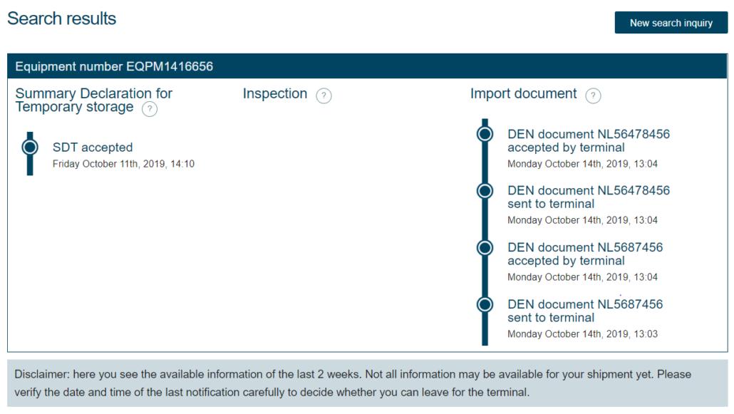 Screenshot Import Status